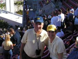 John and Sue Harrison in Tampa, Outback Bowl, 2003