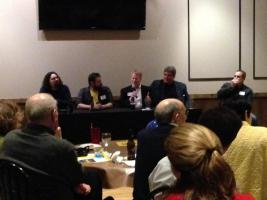 Our fantastic panelists at the MGoBlog event January 12th