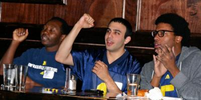 University of Michigan Football fans meet at the Portland Thirsty Lion for Football Games.