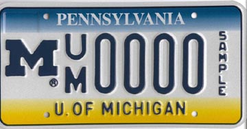 PA license plate